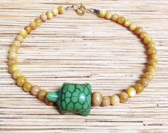 Stone Turtle  Anklet