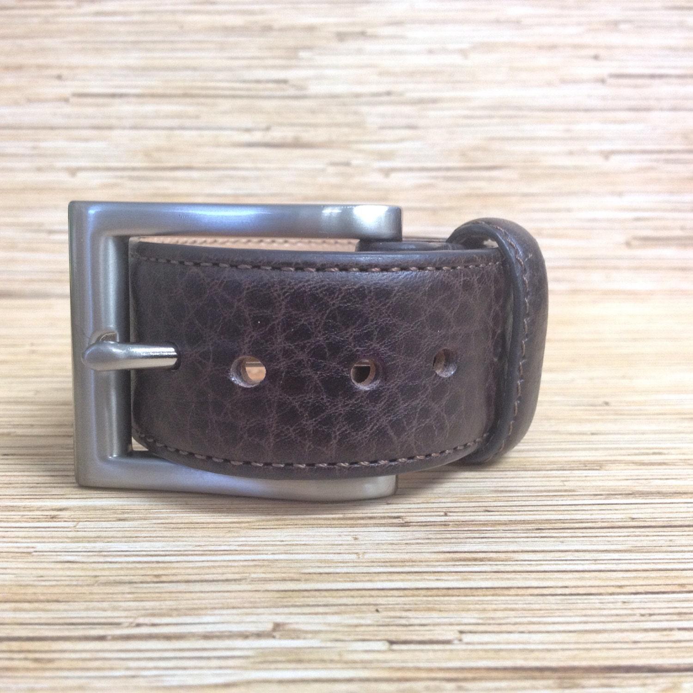chocolate brown kirkland genuine leather belt cuff bracelet l1