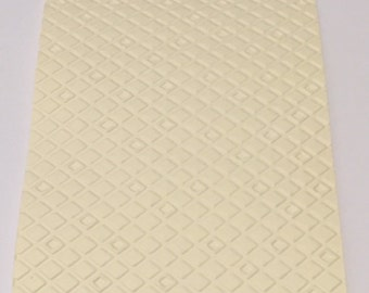 10 Diamonds Embossed Cardstocks - Choose your color