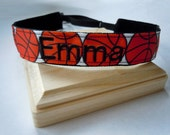 Basketball Headband Adjustable NO SLIP Hair Bands PERSONALIZED you Choose Prints Many Sports and Patterns Available