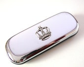 Crown Glasses Case Silver Spectacles Box