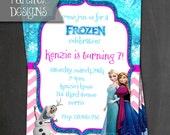 Printable Frozen Birthday Invite - Digital File ONLY