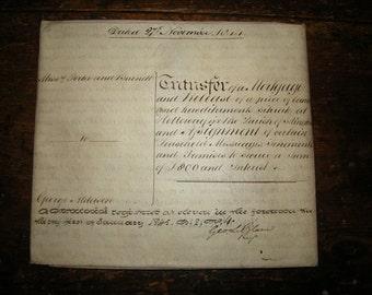 Original 1828 English Vellum (Sheepskin) Indenture