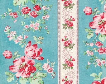 Verna Mosquera - Rosewater - Climbing Blooms in Pool - BTY cotton quilting fabric