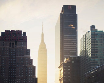 Manhattan Sunrise - 8x10 Fine Art Photograph, Skyline, Empire State Building, NYC Wall Art