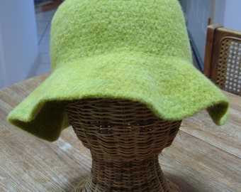 Lime Felted Hat