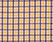 Fabric Finders Smaller Purple and Gold Tri-Check Fabric