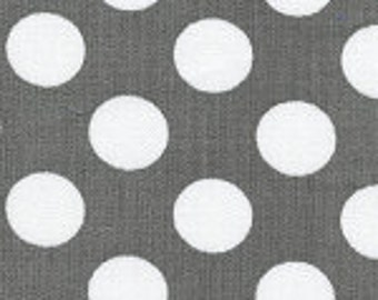 Fabric Finders Gray with White Polka Dot Cotton Fabric