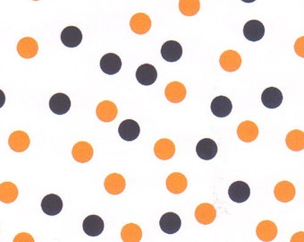 Fabric Finders Navy and Orange Dot