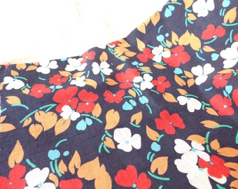Vintage cotton floral fabric, unused