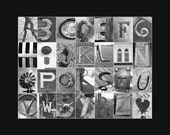 """Alphabet Letter Art Photo Print - Instant Digital Download - Personal Use Only - 11x14"""""""