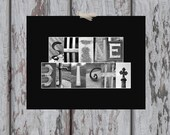 "SHINE BRIGHT Letter Art Photography Print - 11x14"" - Custom Home Decor / Gallery Wall Art / Inspirational Art / Unique Gift"