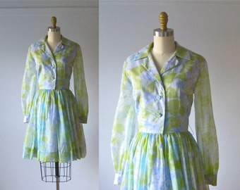 vintage 1960s dress / 60s dress / Flower Girl