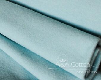 ORGANIC Fleece, Mod Basics Fleece, Solid Sky Fleece by Jay-Cyn Designs from Birch Fabrics, Fat Quarter, Half Yard or more