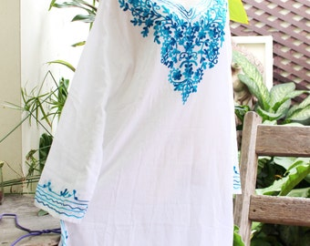 Bohemian Embroidered Long Blouse/Shirt/Tunic - SSS1501-1