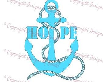 Hope anchor SVG anchor svg hope svg digital cut file  svg Instant download