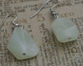 Chunky Jade beads earrings