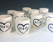 Personalized Shot Glasses, Wedding Favors for Weddings, Cups for Weddings and Love