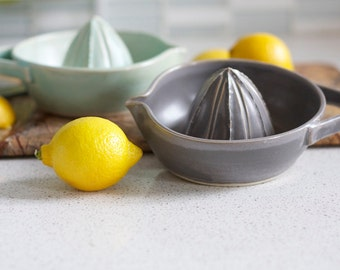 Pottery Citrus Juicer - Charcoal Gray Juicer
