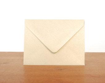 gold A2 envelopes: set of 10, blank