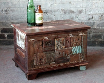 Items Similar To Turquoise Cedar Chest Coffee Table On Etsy