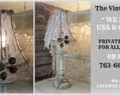 Posh ROMANCE.. Beautiful Vintage Lamp with GORGEOUS Shade!  * One of a KIND!