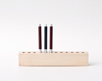 Pen Holder Wood Fountain Pen Holder Desk Organizer KLARA