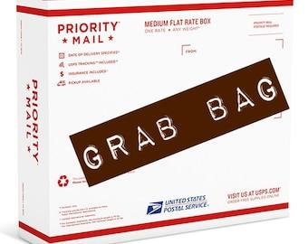 SALE!! Grab Bag... Tags, Embellishments, Journal cards, Scrapbooking, Cardmaking, Pocketletters, planner, Destash, Ribbon, Flowers, and more