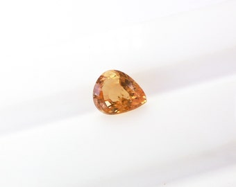 TOURMALiNE. Natural. Golden Orangey Yellow. Madagascar. Clean. Oval Native Cut / Micro Facet. 1 pc. 0.72 cts. 5x6x4 mm (TM2002)