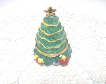Christmas Tree Jewelry Pill Trinket Box /