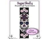 Bead Pattern Peyote(Bracelet Cuff)-Sugar Skull 4