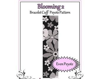 Bead Pattern Peyote(Bracelet Cuff)-Blooming 2