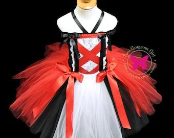 Little Red Riding Hood Costume...Red Black White Tutu and Top...Halloween Costume, Birthday Tutu Set . . . Little Red Riding Hood
