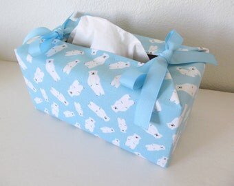 Tissue Box Cover/Polar Bear