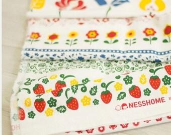 Cotton Linen Fabric Cloth -DIY Cloth Art Manual Cloth-Russian Customs 57x19Inches