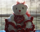 Babys First Valentine Bear /Reserved for Lorie M