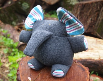 Plush Elephant made from Your Baby's Flannel Receiving Blanket and Fleece - New Baby Gift - Baby Shower - Baby's First Birthday
