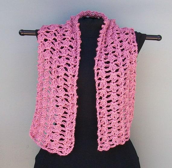 Crochet Scarf Crochet Plum Wine Scarf Open Lacy by ...
