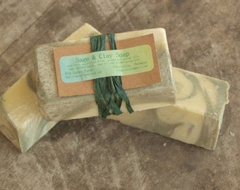 Farm Fresh Rustic Sage and Green Clay Soap