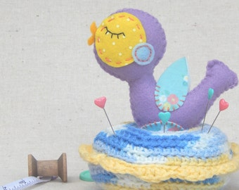 Purple Birdy Novelty PinCushion