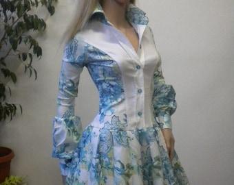 beautiful and elegant ladies shirt tunic with crinoline