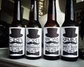 Will You Be My Groomsman Beer Bottle Labels for the Groomsmen and Best Man