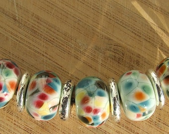 Boheme - lampwork bead necklace