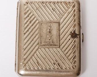 Vintage metal cigarette case, holder from USSR, LENINGRAD.