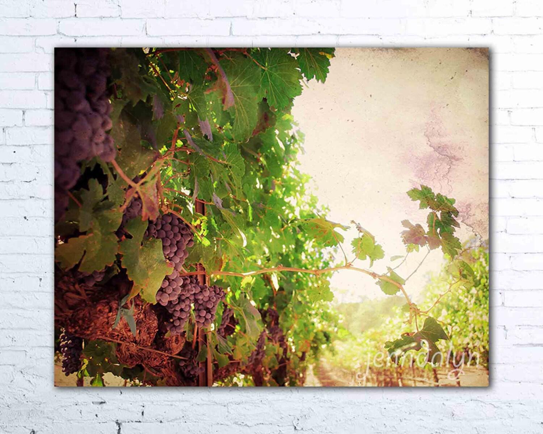 Kitchen Wine Decor Vineyard Vines Print Wine Country Art