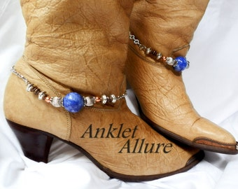 Storm Blue Boot Chains Fusion Copper Silver Boot Jewelry