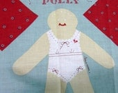 SAMANTHA and POLLY DOLLS Cut and Sew Fabric Craft Panel DiY Dolls Easy to Make