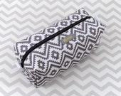 Small Box Bag, Cosmetic Bag or Pencil Case - Grey or Gray