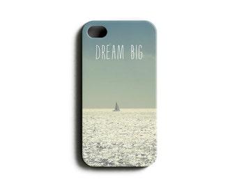 "phone Case ""Dream Big"" Boat Typography"