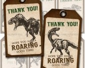 Dinosaur Themed Favor Tags, 4 different tag designs, Instant Download, Print Your Own